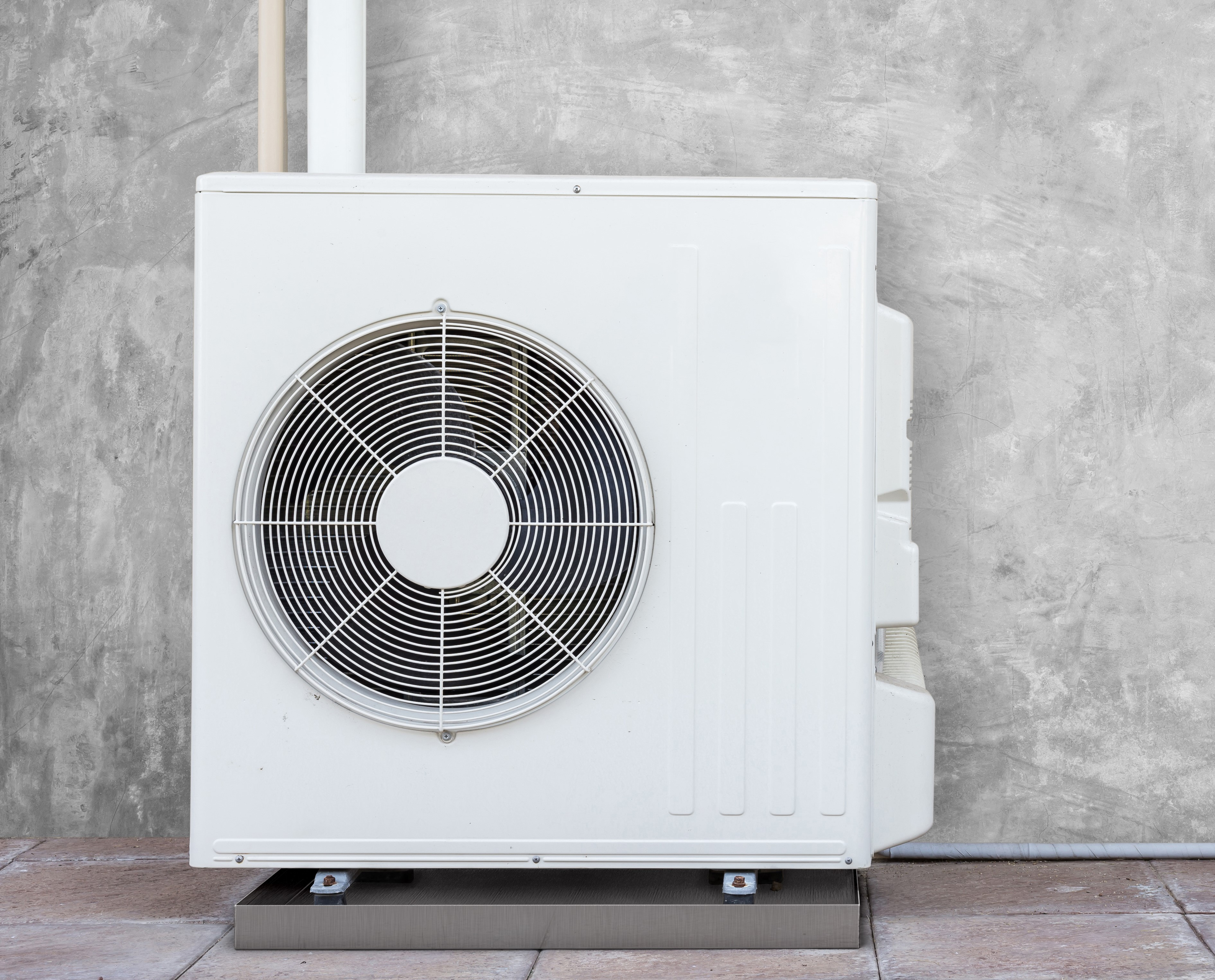 AC Unit with Drip Pan