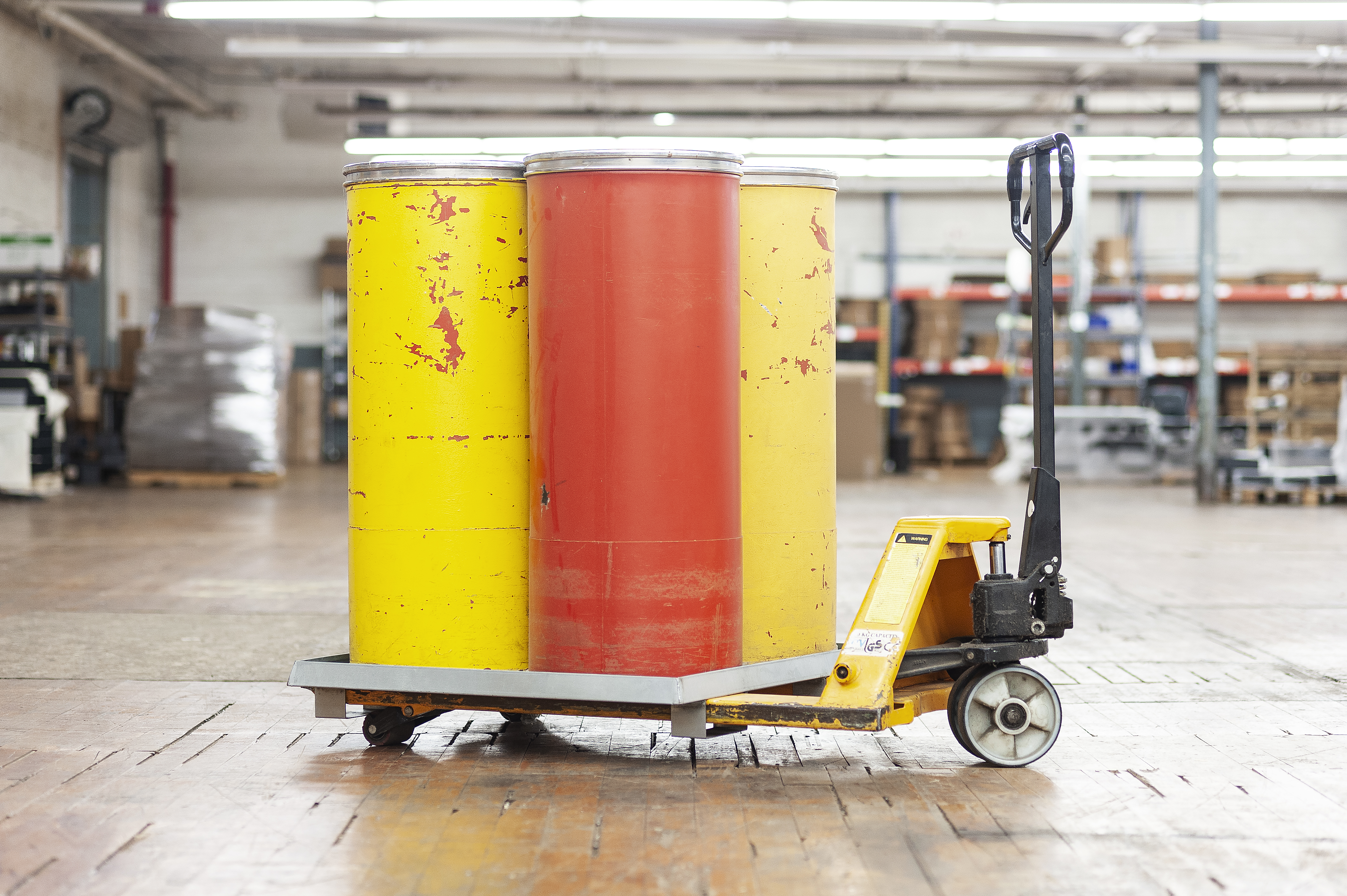 Forklift Pallet Drip Pan with Drums