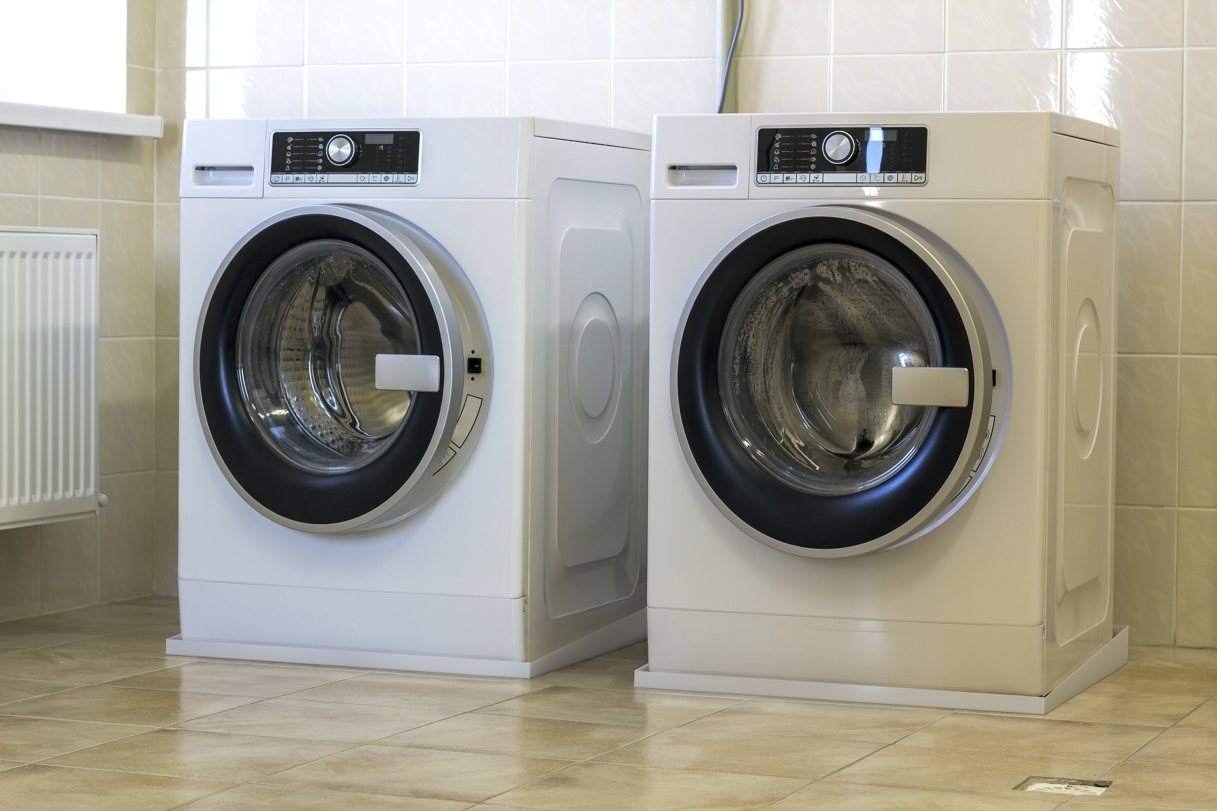 Washing Machines with Drain Pans
