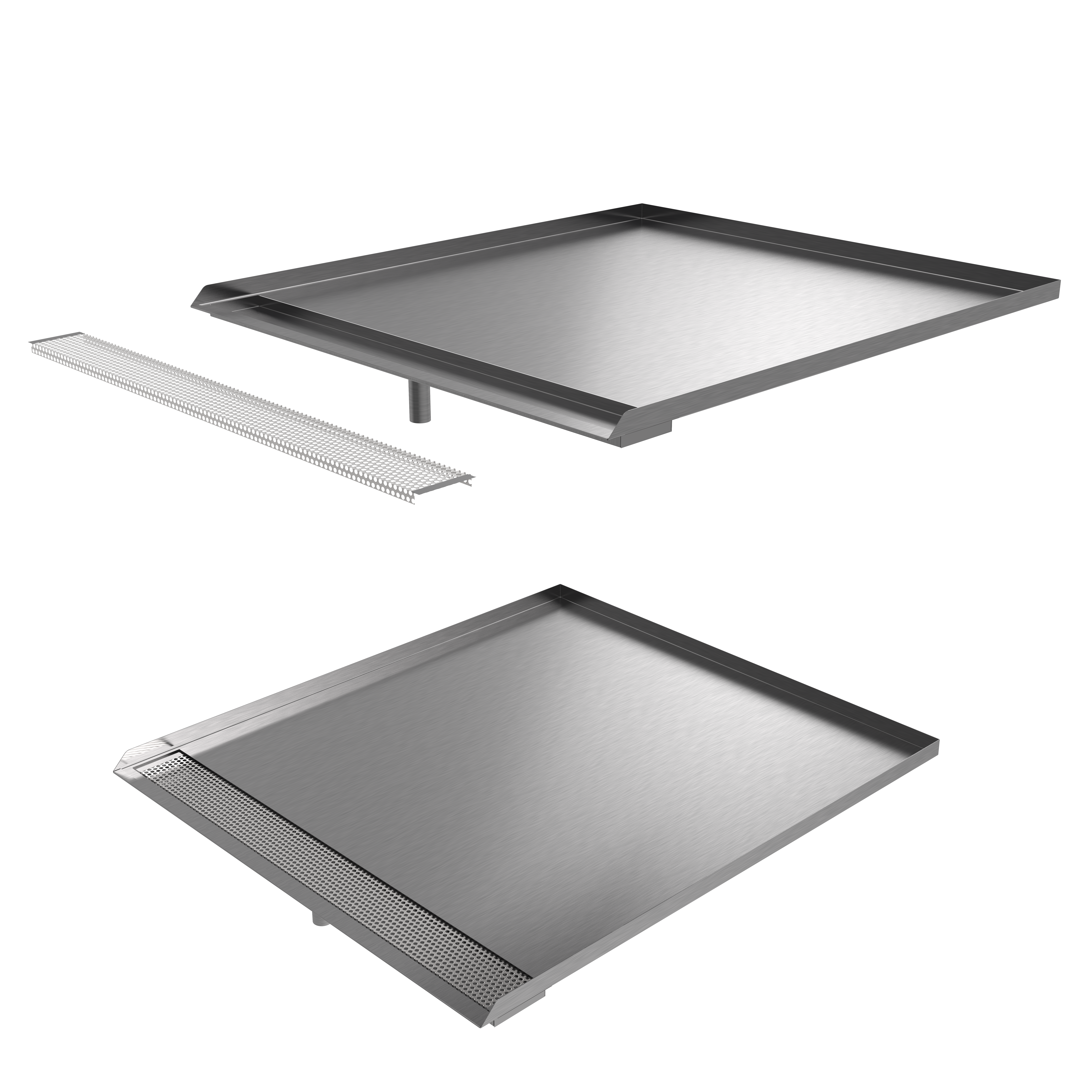 Patented Killarney Metals Open Front Trench Pan